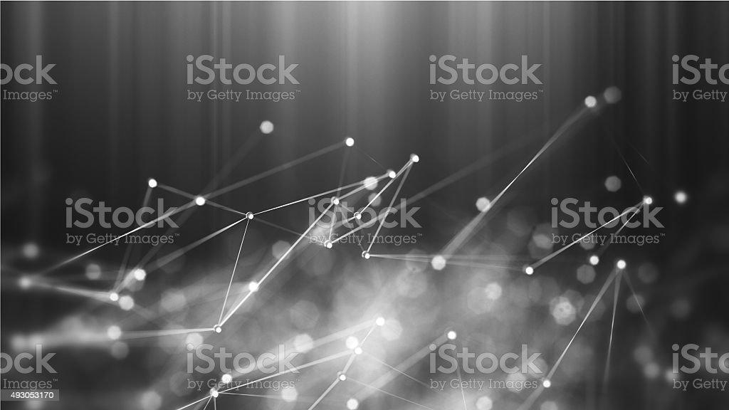 Abstract microscopic molecules macro stock photo