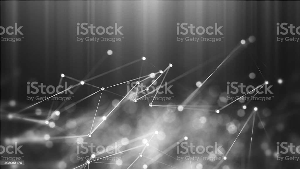 Abstract microscopic molecules macro stock photo