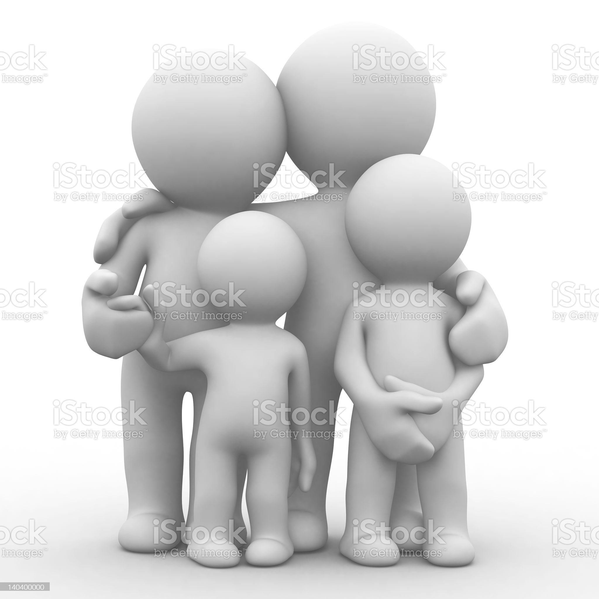 Abstract mockup of family figurines royalty-free stock photo