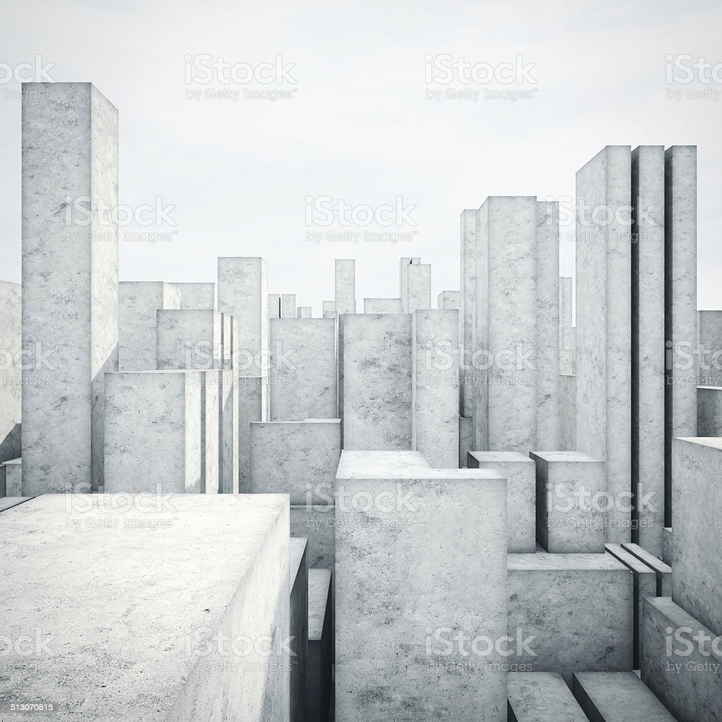 Abstract model of a city stock photo