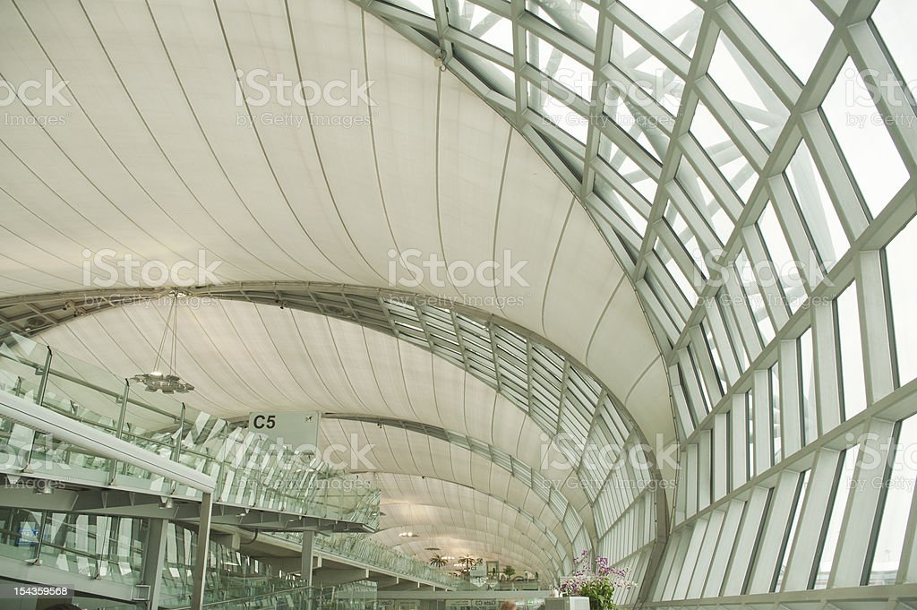abstract modern architecture building in Bangkok airport,thailand. royalty-free stock photo