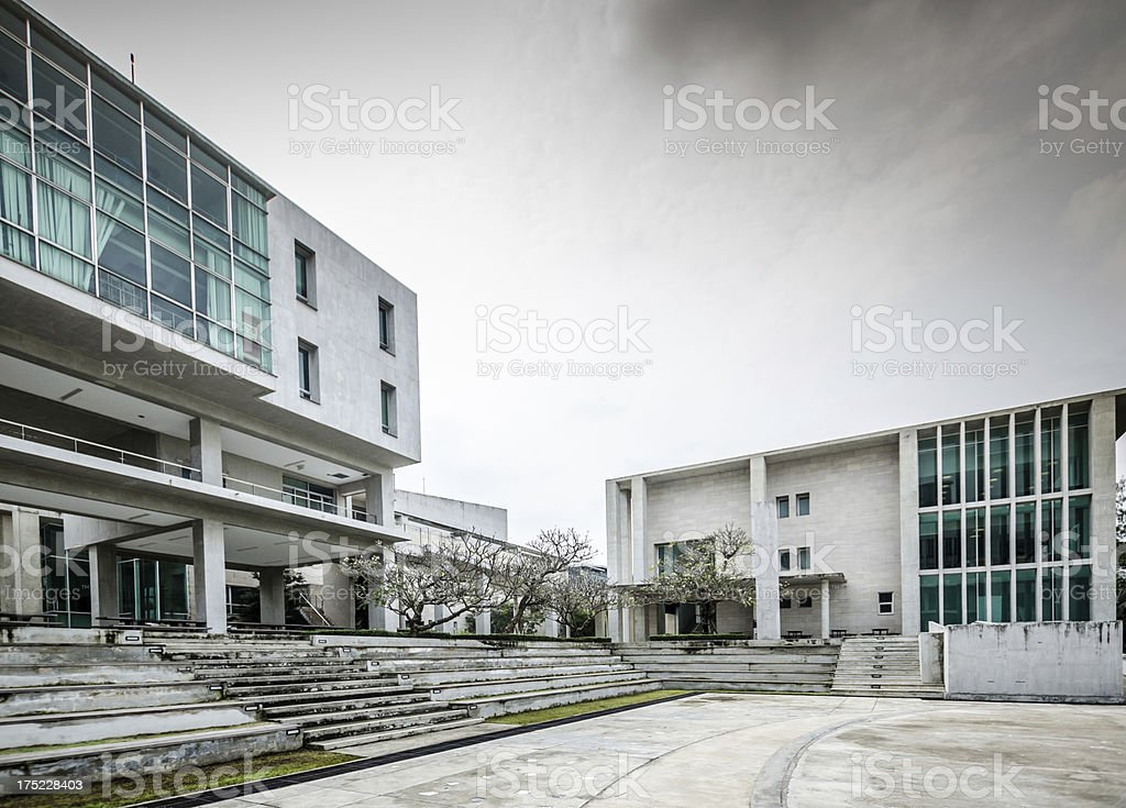 Abstract modern architecture royalty-free stock photo