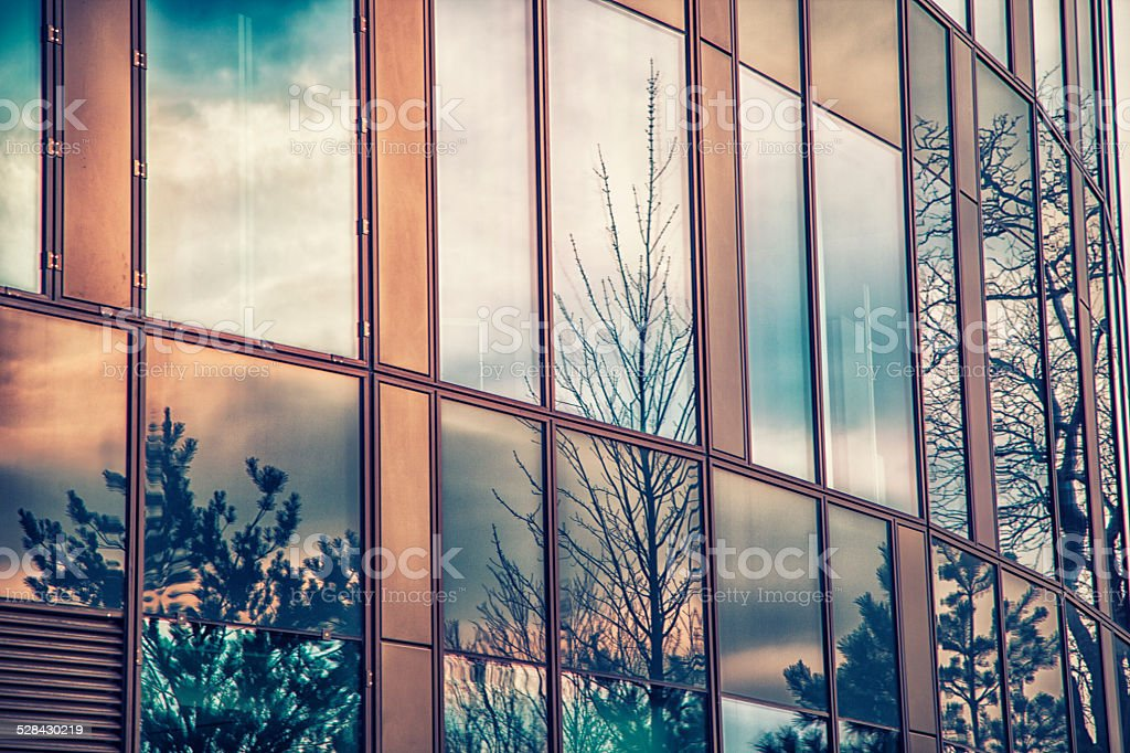 abstract modern architecture stock photo