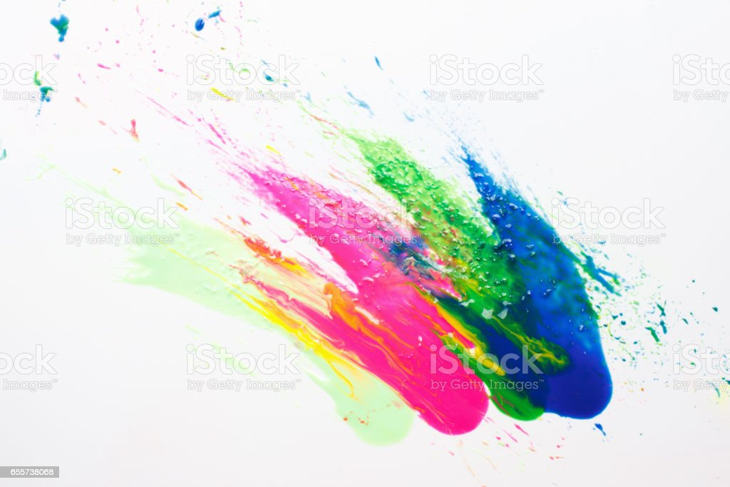 Abstract modern art. Festival holi color explosion stock photo