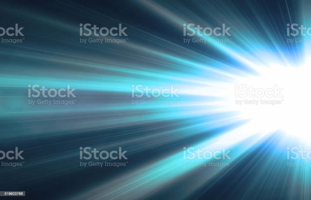 Abstract modern blue light art background stock photo