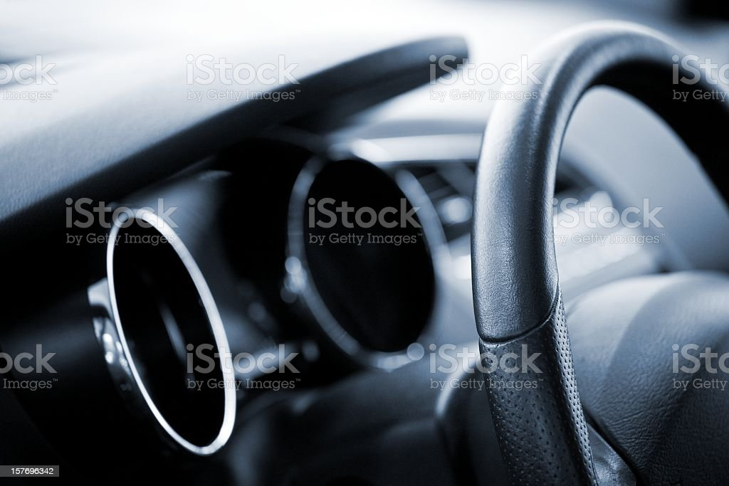 abstract modern car cockpit royalty-free stock photo