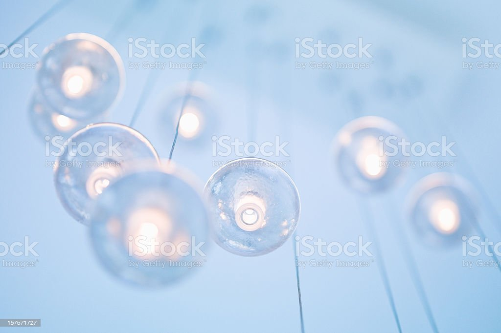 Abstract Modern Chandelier stock photo