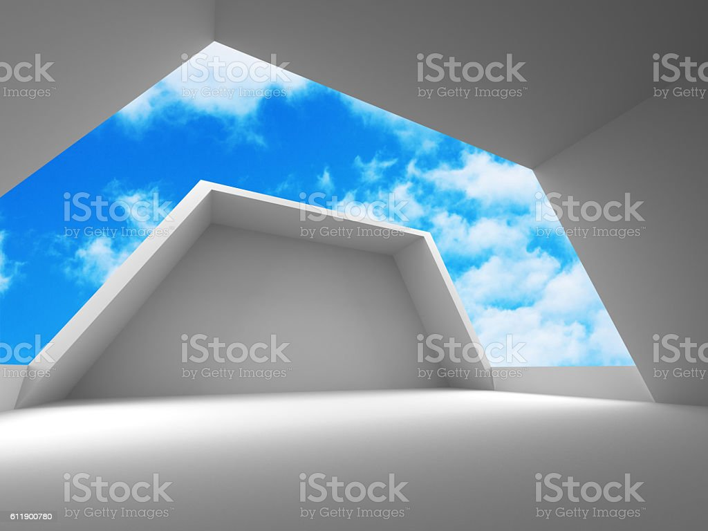 Abstract modern construction architecture background stock photo