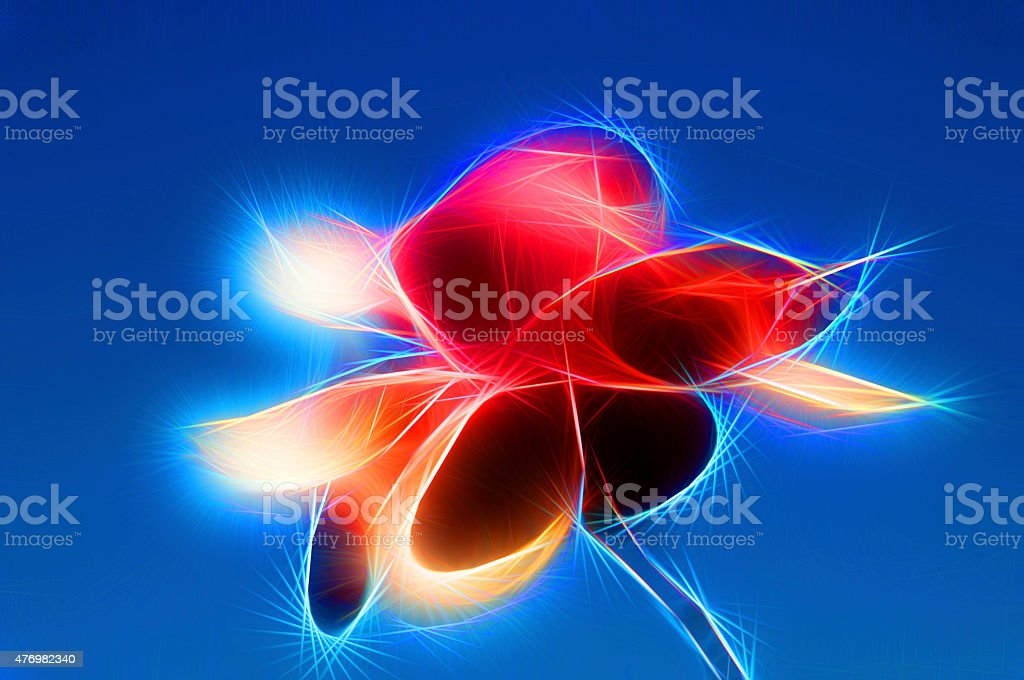 abstract modern illustration red magnolia stock photo