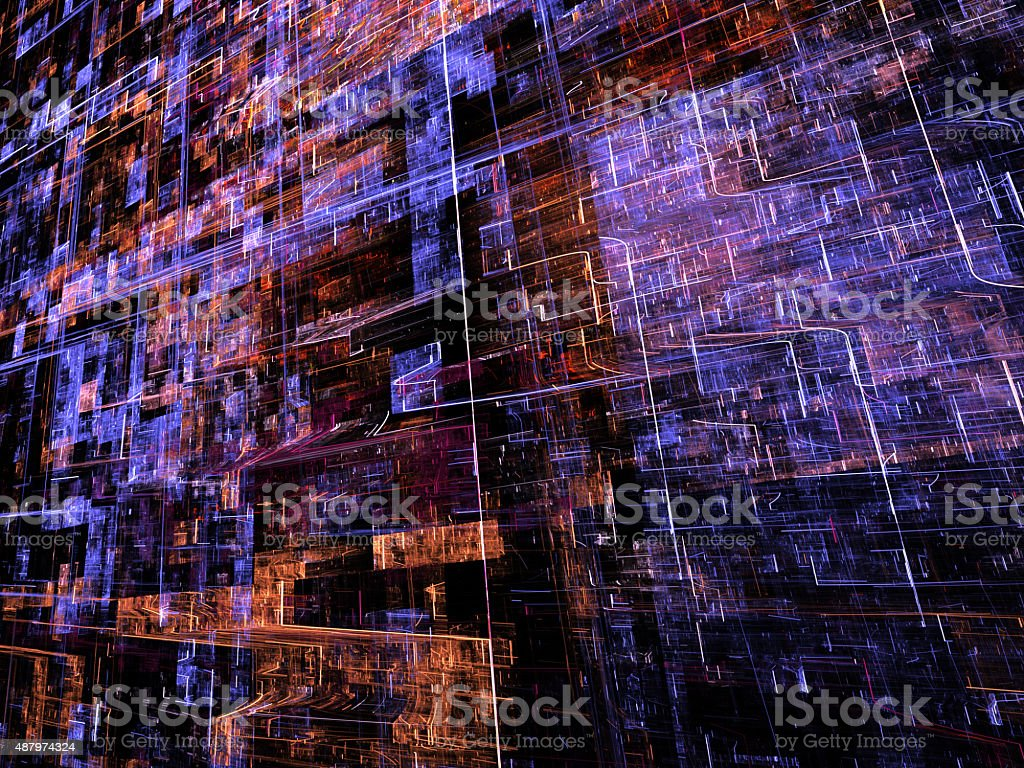 Abstract modern tech background computer-generated image stock photo