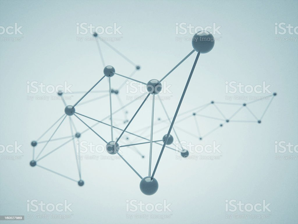 Abstract Molecules royalty-free stock photo