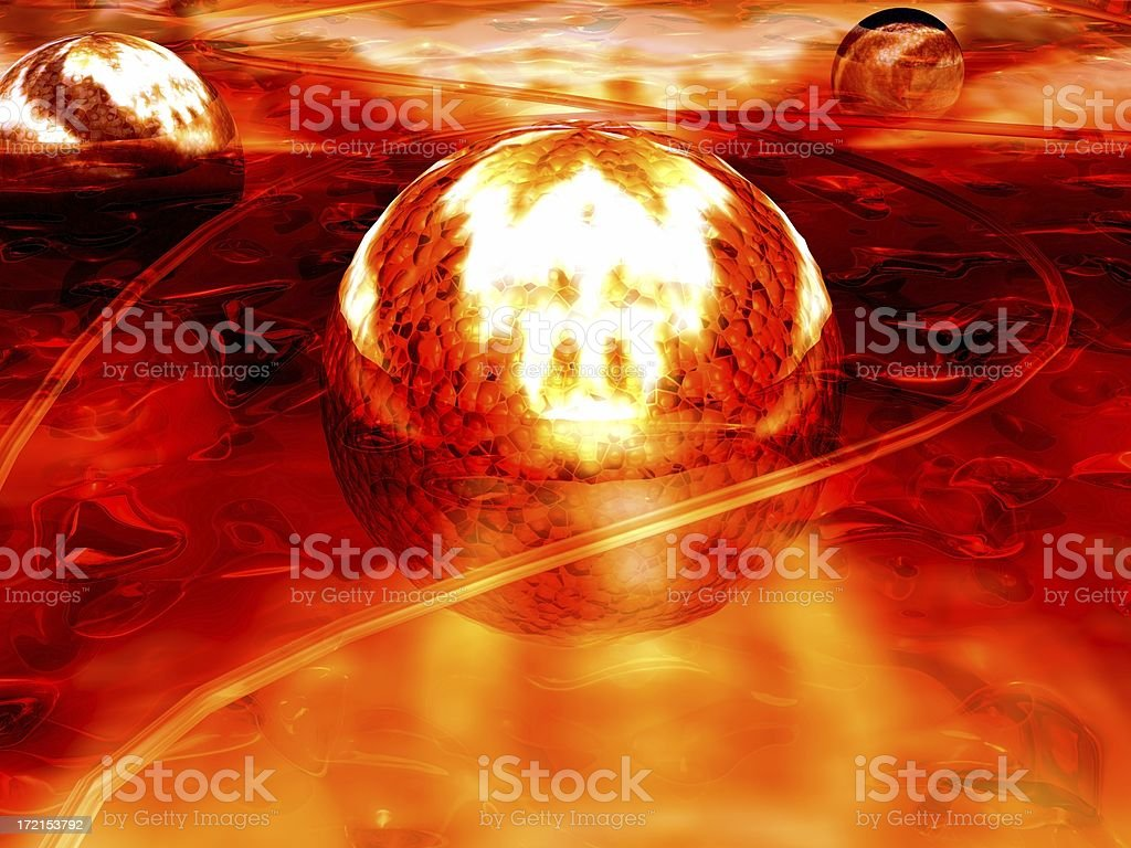 3D Abstract Molten Red Lava Balls Background royalty-free stock photo