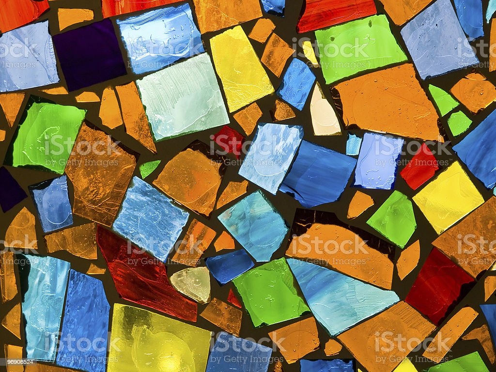 Abstract mosaic stock photo