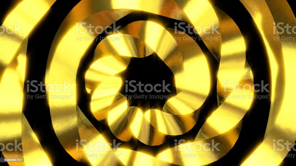 Abstract motion background. Gold elements. Swirl, rotating object stock photo