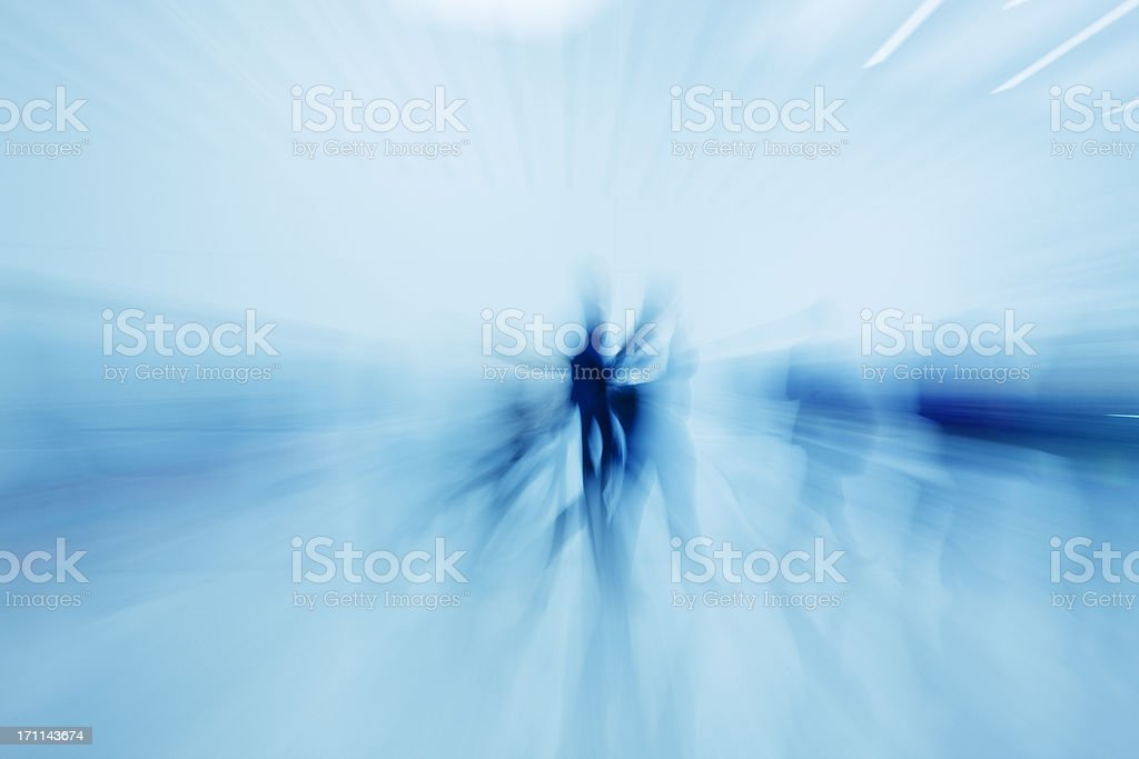 Abstract Motion Blur of People Walking royalty-free stock photo