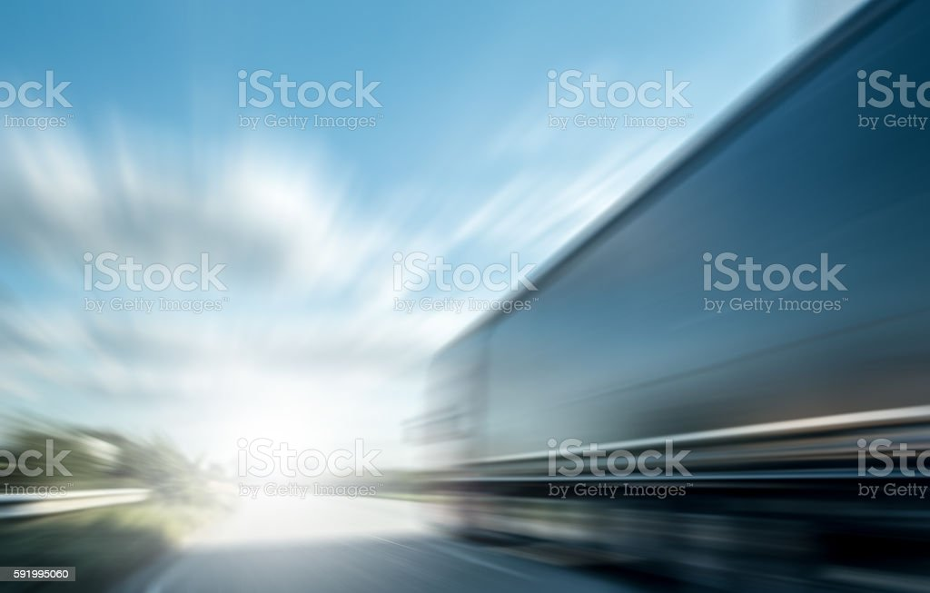 abstract motion blurred transport stock photo