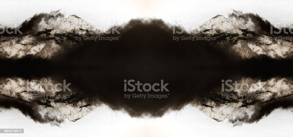 Abstract Mountain And Smoke stock photo