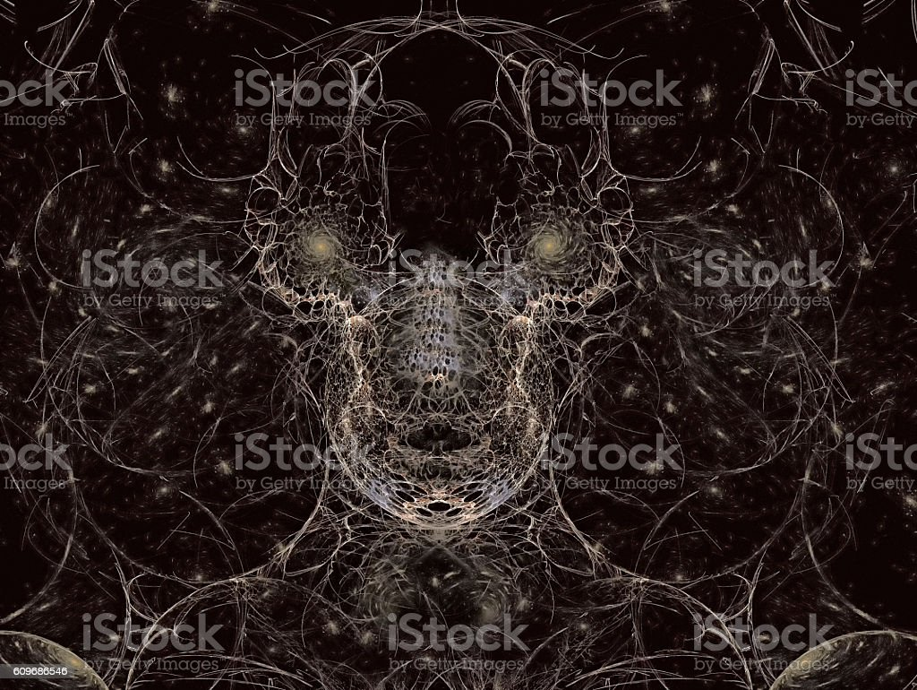Abstract multicolored fractal. stock photo