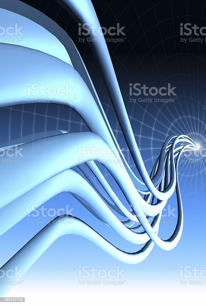 Abstract multicurve 05 royalty-free stock photo