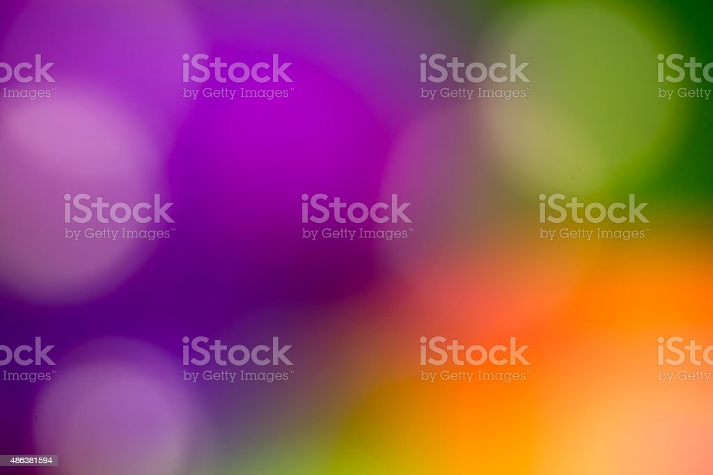 Abstract nature blurred green pink background with beautiful bokeh stock photo