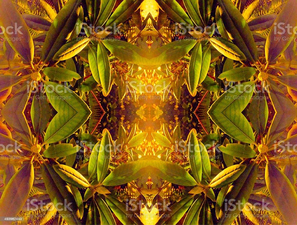 Abstract nature kaleidoscope background stock photo