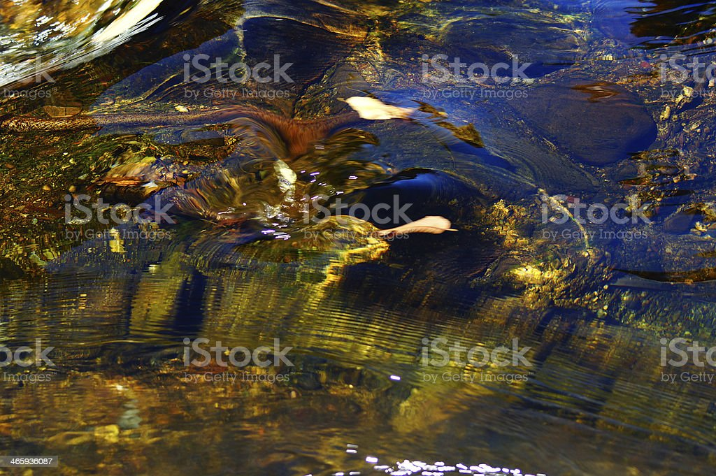 Abstract nature : Underwater Multicolored rock and pebbles in clear pond royalty-free stock photo