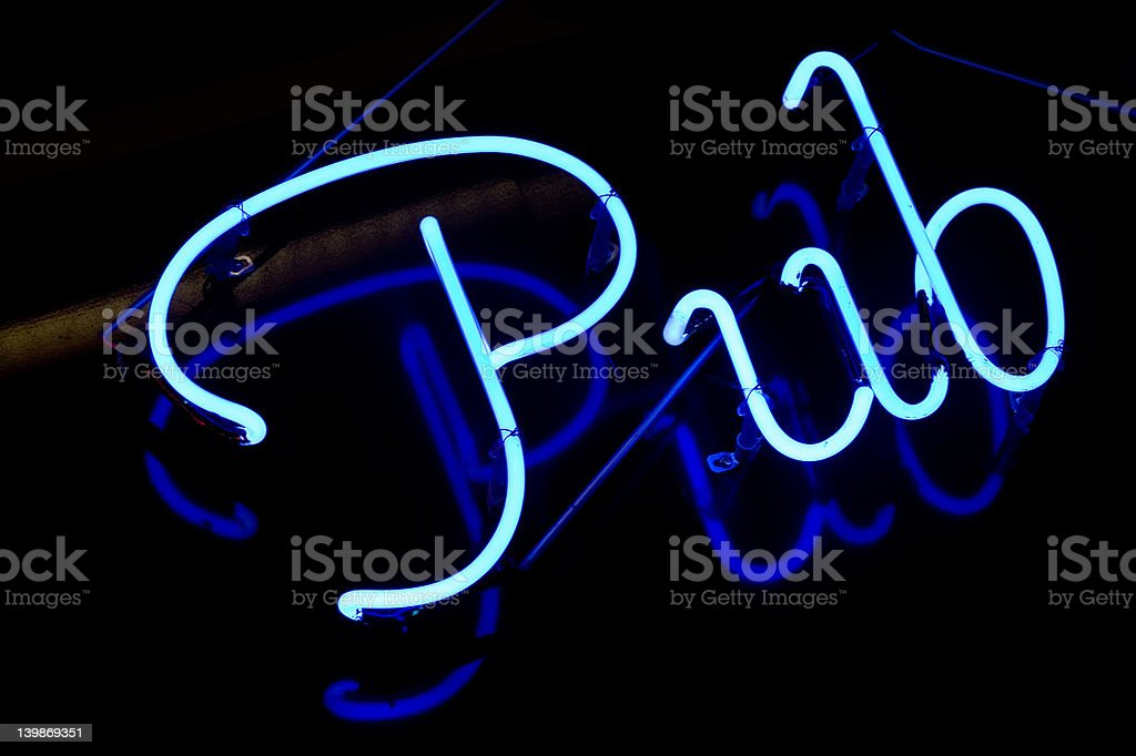 Abstract neon sign Pub royalty-free stock photo