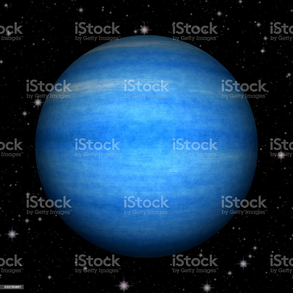 Abstract Neptune planet generated texture background stock photo