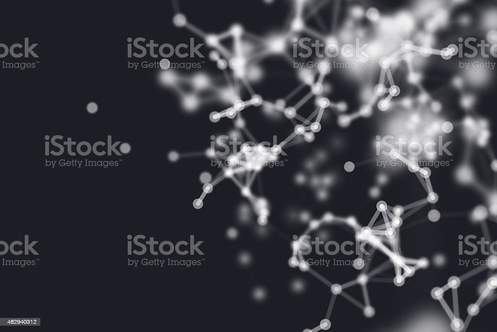 Abstract network background stock photo