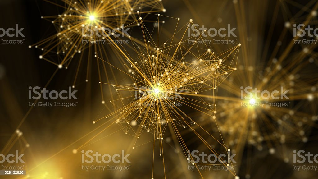 Abstract network connection background. stock photo