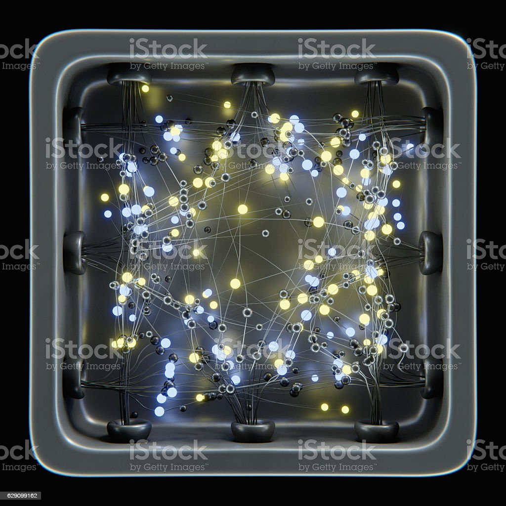 Abstract  network on black stock photo