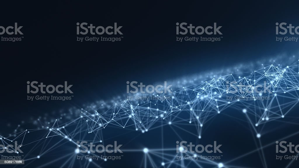 Abstract network stock photo
