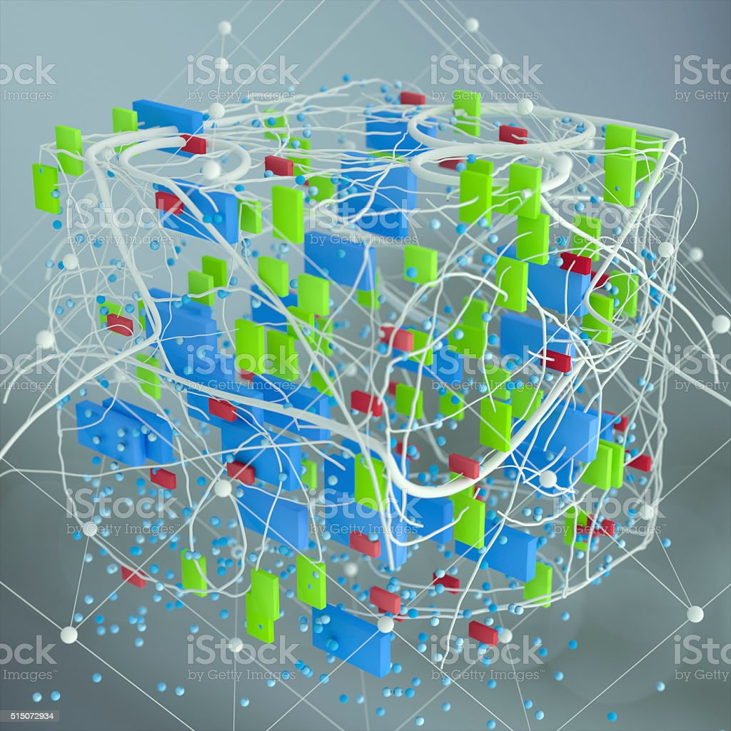 Abstract network structure stock photo