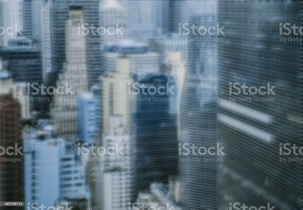 Abstract New York stock photo