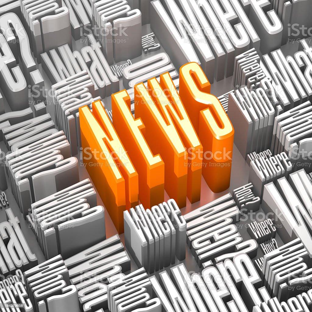 Abstract News royalty-free stock photo