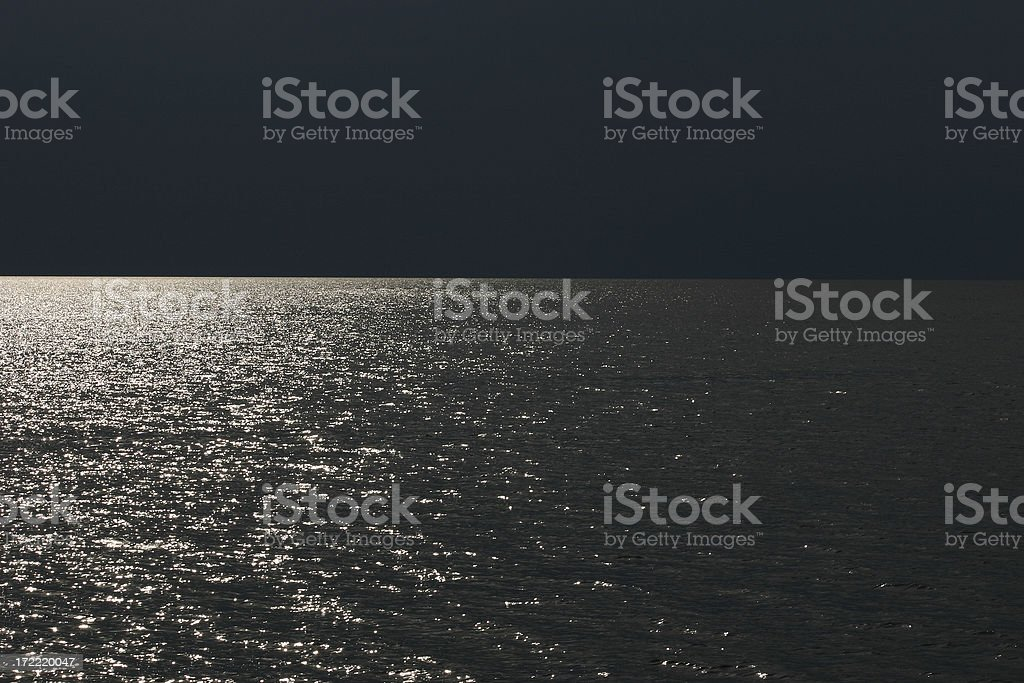Abstract Night Seascape royalty-free stock photo