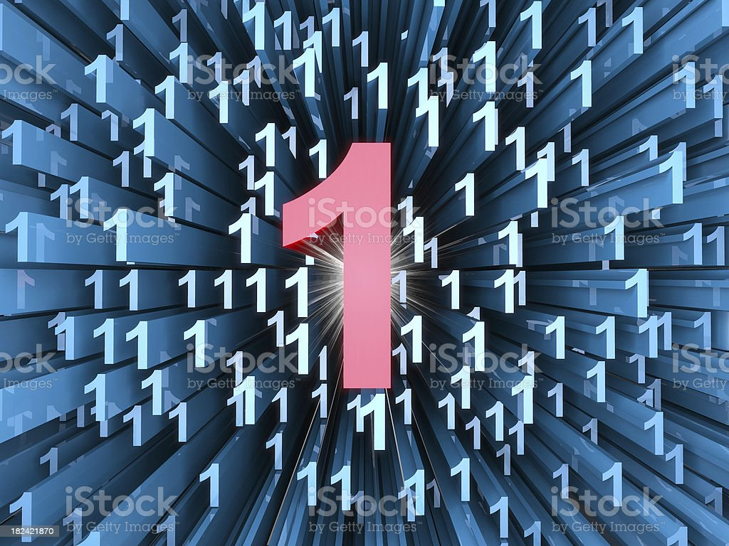 Abstract numbers royalty-free stock photo