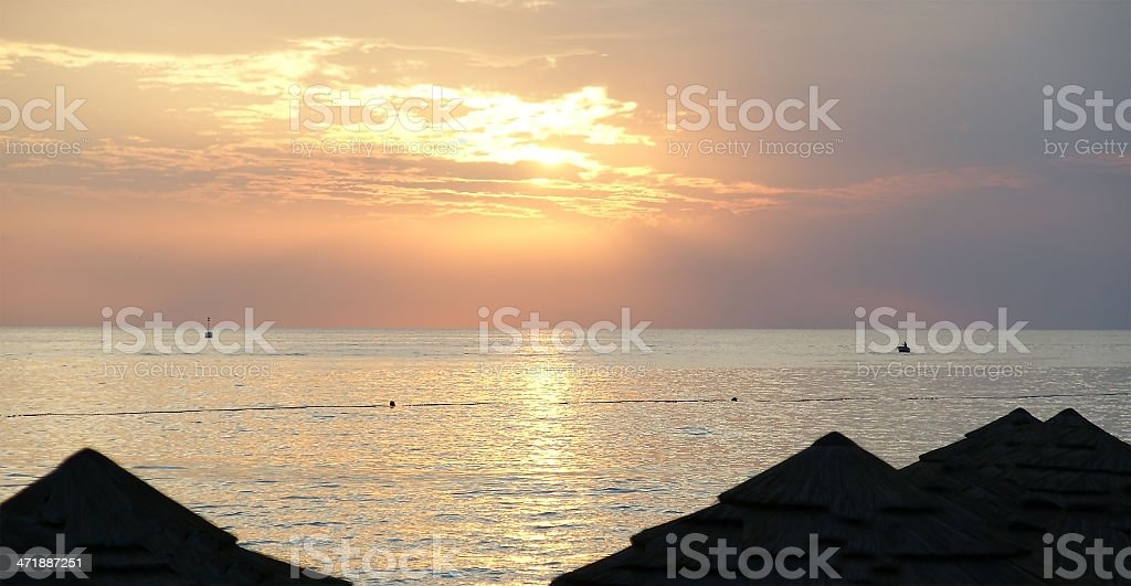 abstract ocean and sunset background royalty-free stock photo