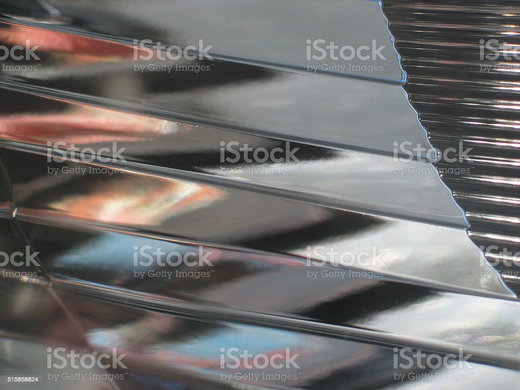 Abstract of a car headlight inside stock photo