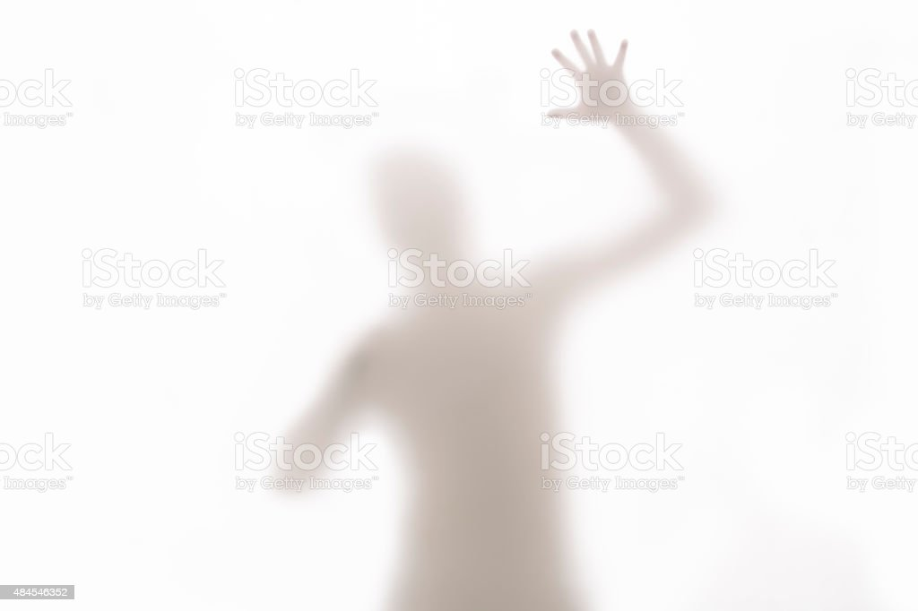 Abstract of a Differently Abled Man stock photo