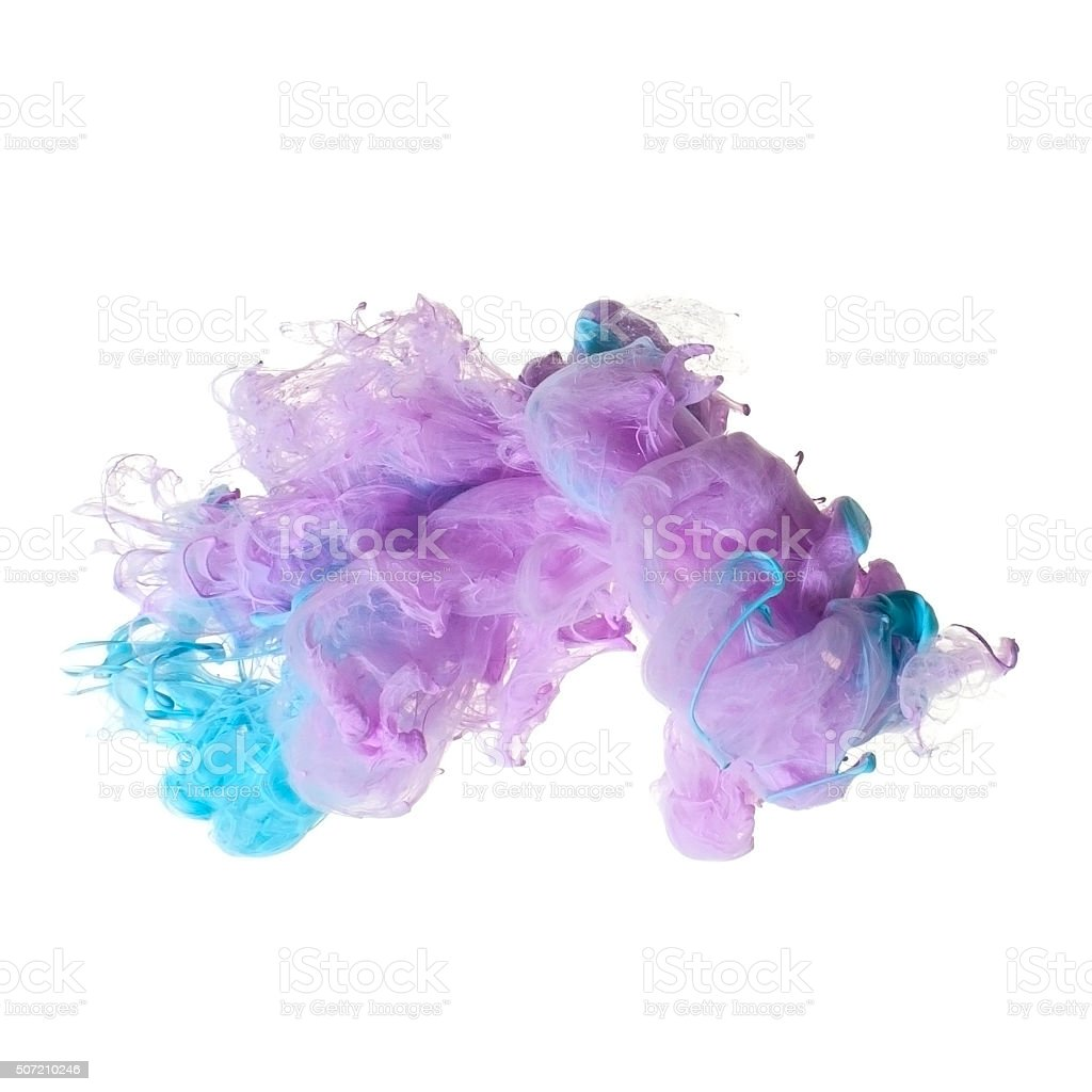Abstract of acrylic in water. stock photo