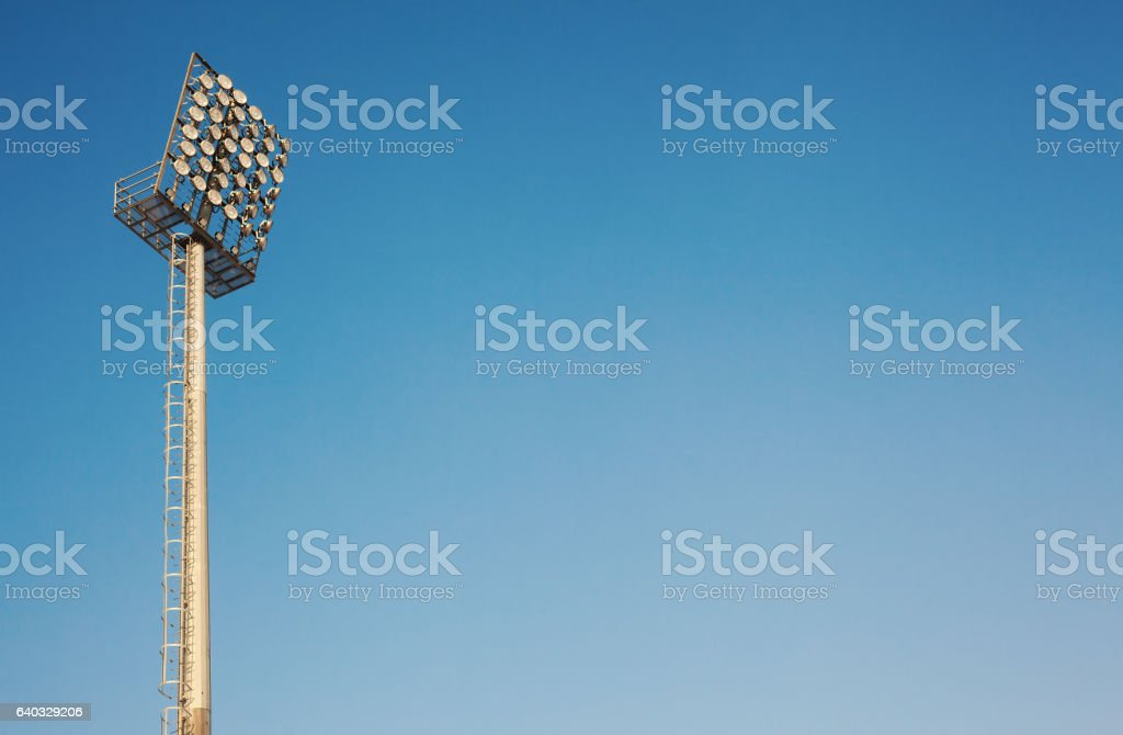 Abstract of Big Ladders and Reflector stock photo
