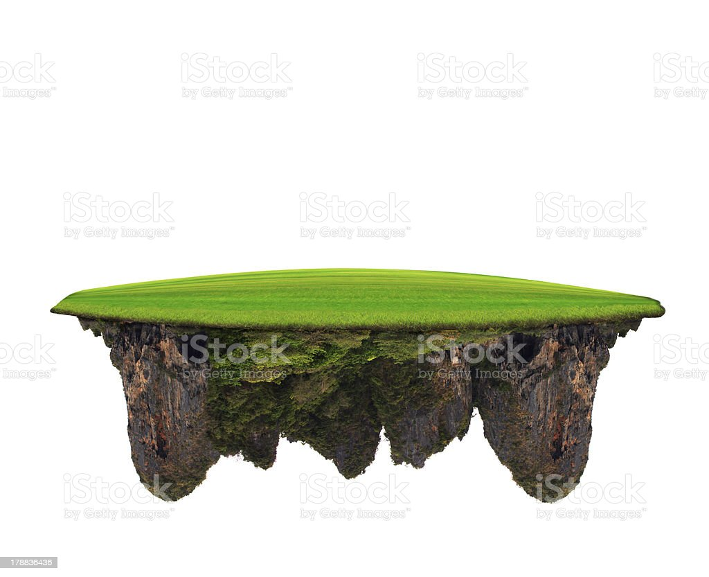 abstract of green grass field on lime stone mountain stock photo