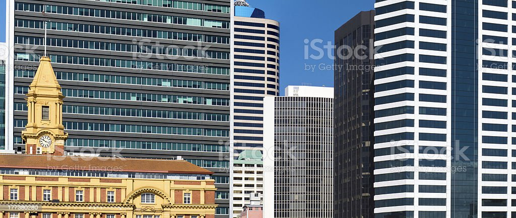 Abstract of modern architecture downtown buildings royalty-free stock photo