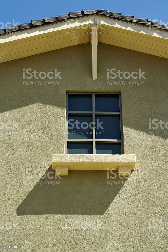 Abstract of New Stucco Wall Construction royalty-free stock photo