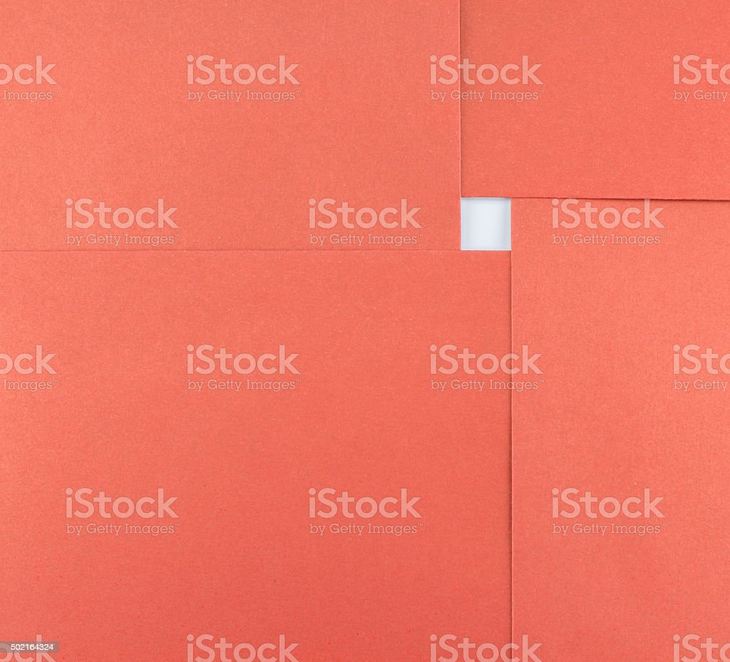 abstract of paper red square sheet and white space stock photo