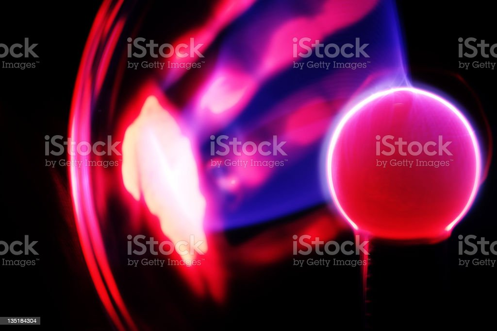Abstract Of Plasma Ball Discharge stock photo
