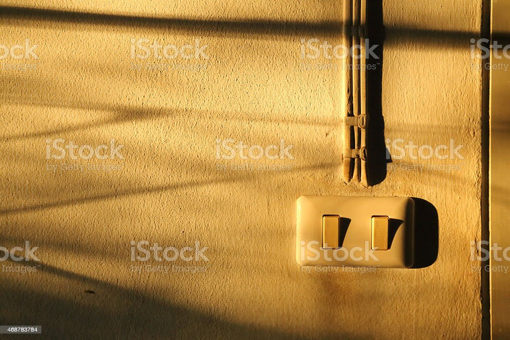 Abstract of shadow on the wall,still life style stock photo
