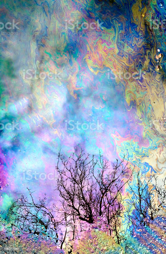 abstract oil nature reflections stock photo