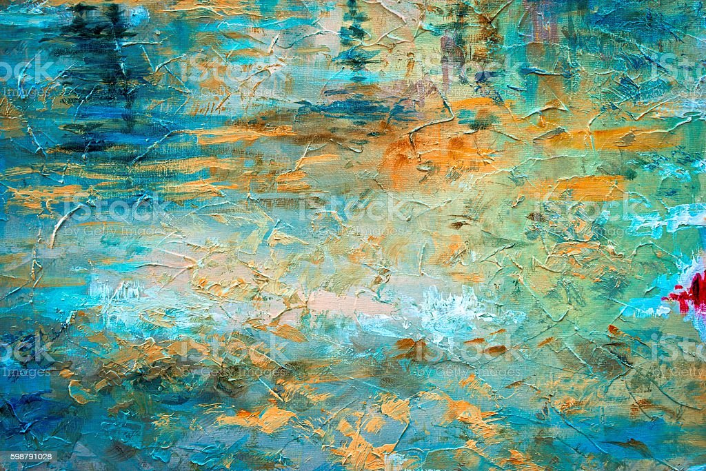 abstract oil paint texture on canvas stock photo